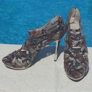 Jennifer Lopez Vivien snake print heels